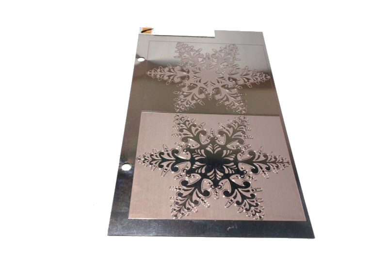 Metal etching processing high quality stainless steel mirror etching plate